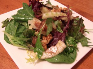 Mixed Baby Greens with Warm Fennel Dressing