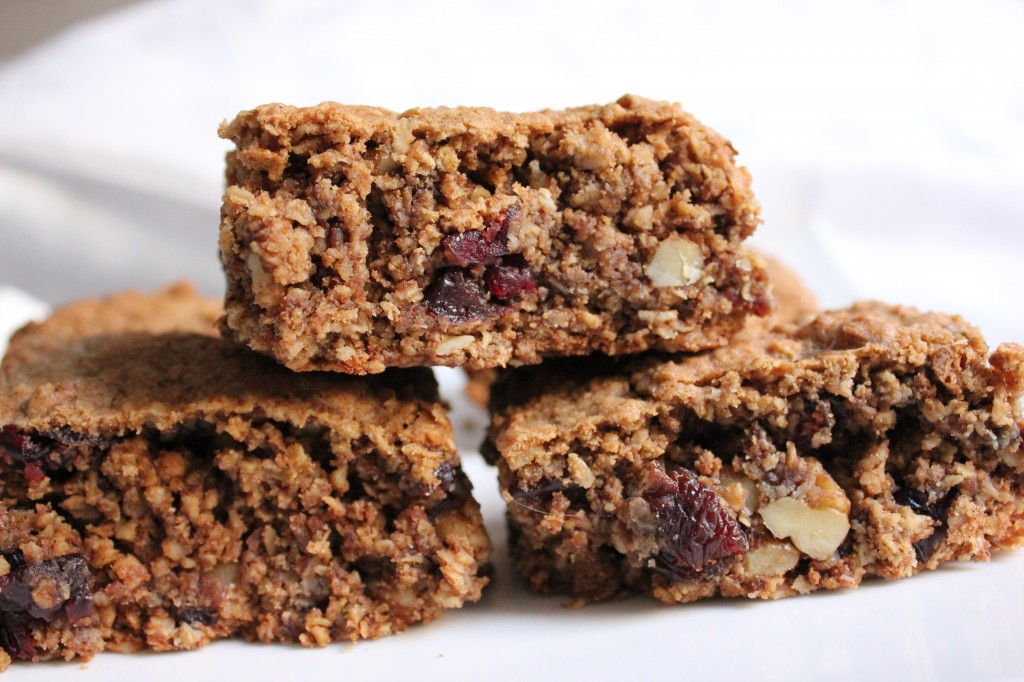 Cranberry, Cherry, Walnut Oat Bars