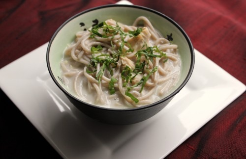 Thai Lemongrass Coconut Chicken Soba Noodle Soup