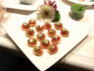 Tuna Tartare with Wasabi Caviar
