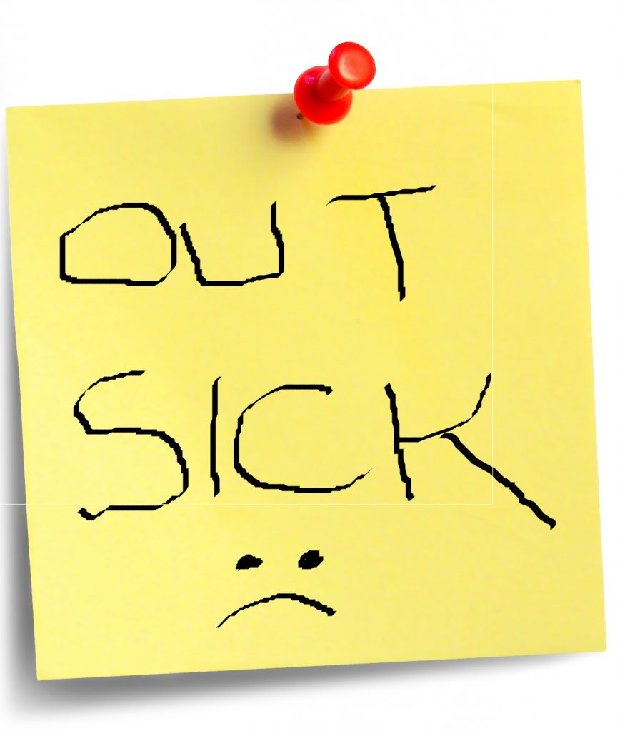 out sick