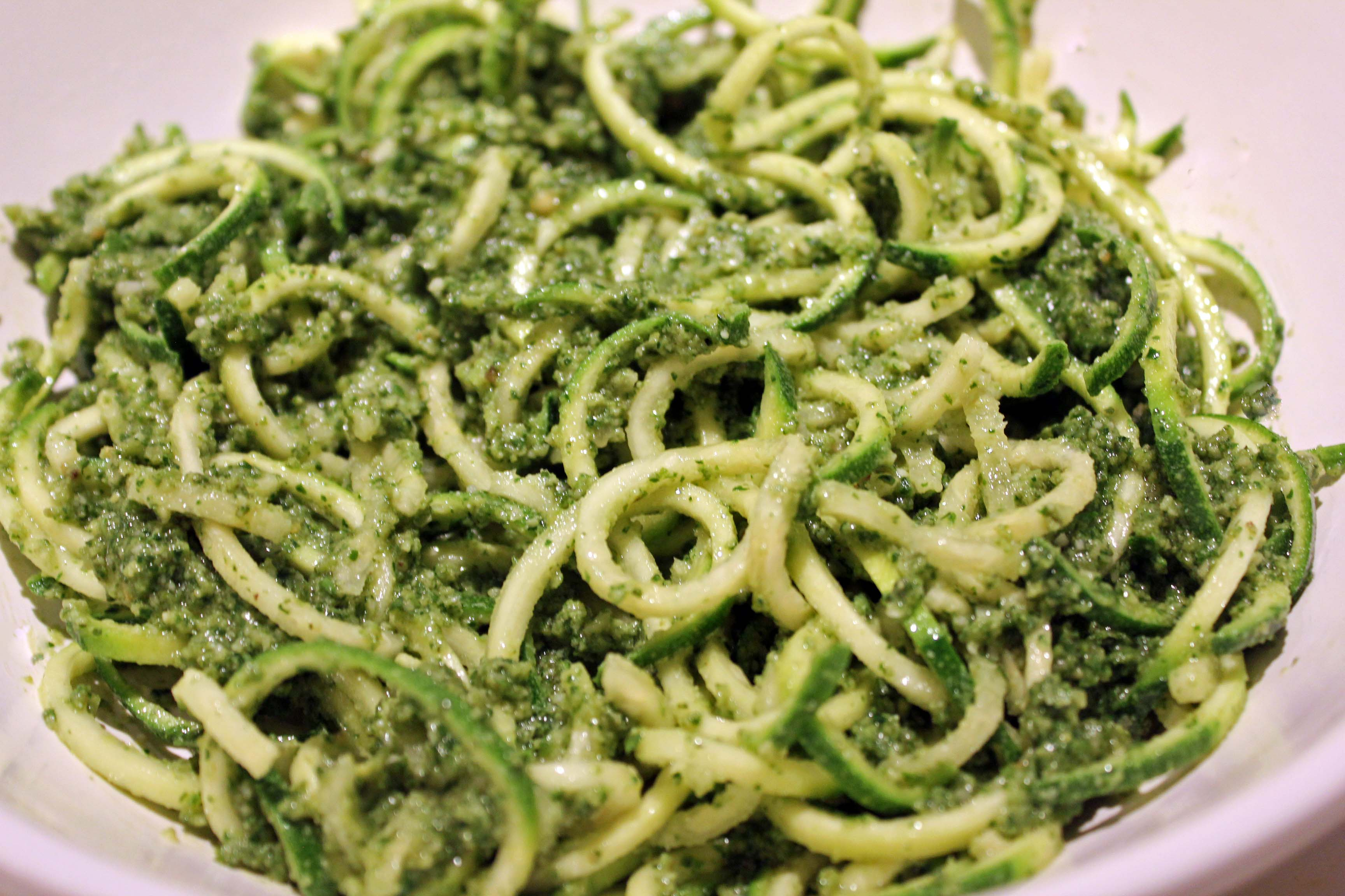 Zucchini Noodles with Basil Pesto