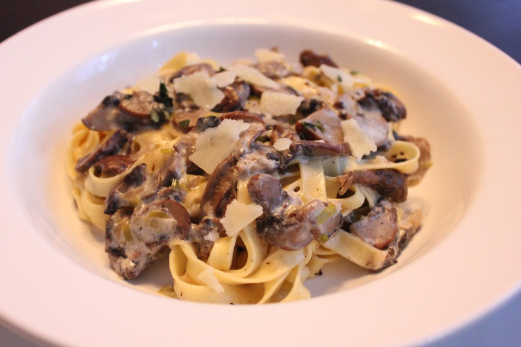 Fettuccine with Wild Mushroom and Fresh Ricotta