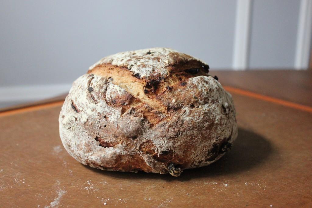 Whole Wheat Raisin Rosemary Boule