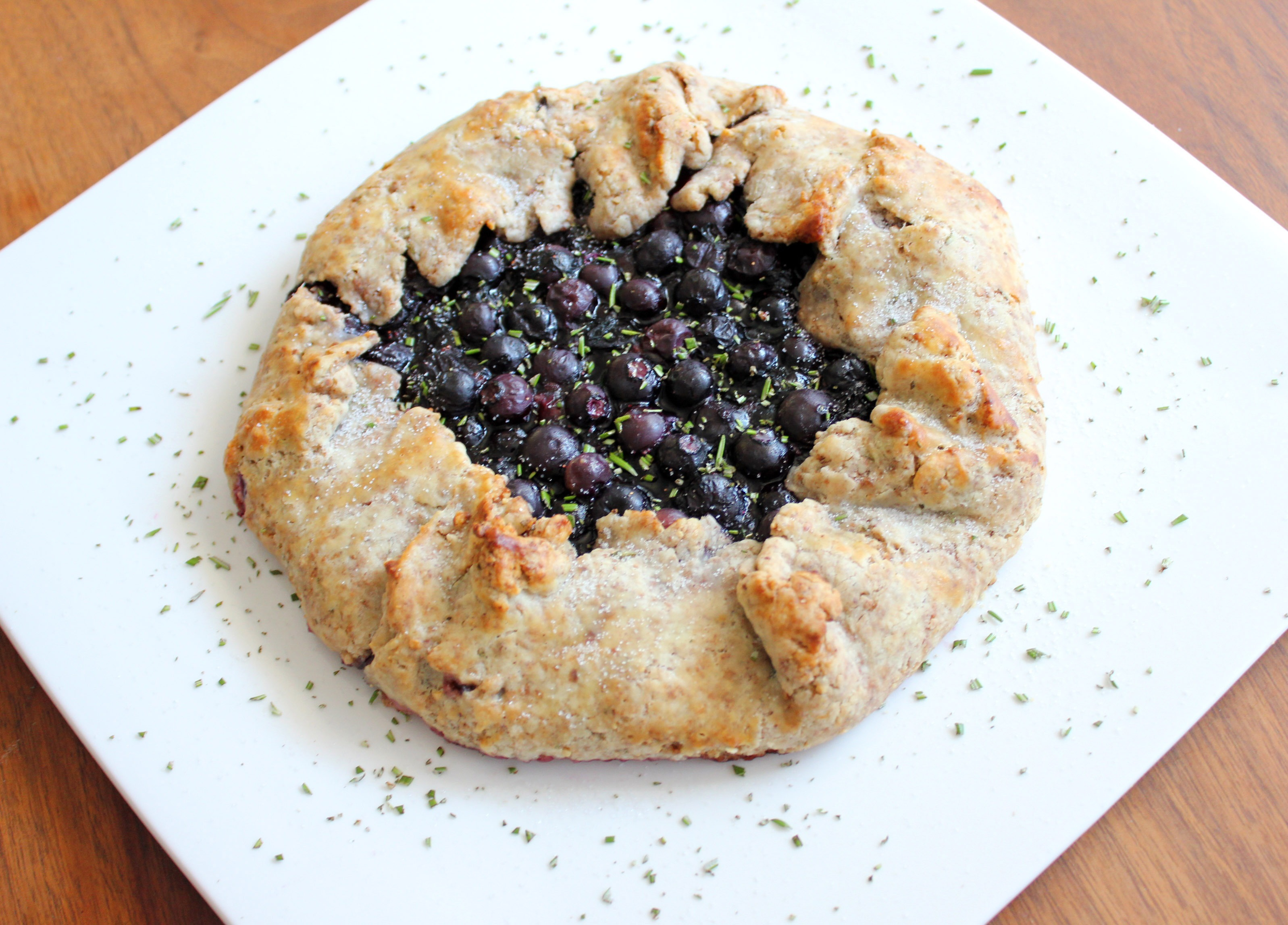 Blueberry and Lemon Galette with Hazelnut Rosemary Crust
