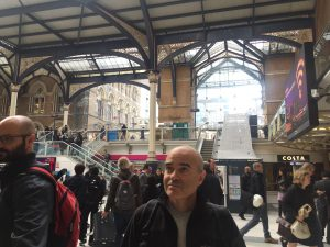 Francis, at the Liverpool Street Station