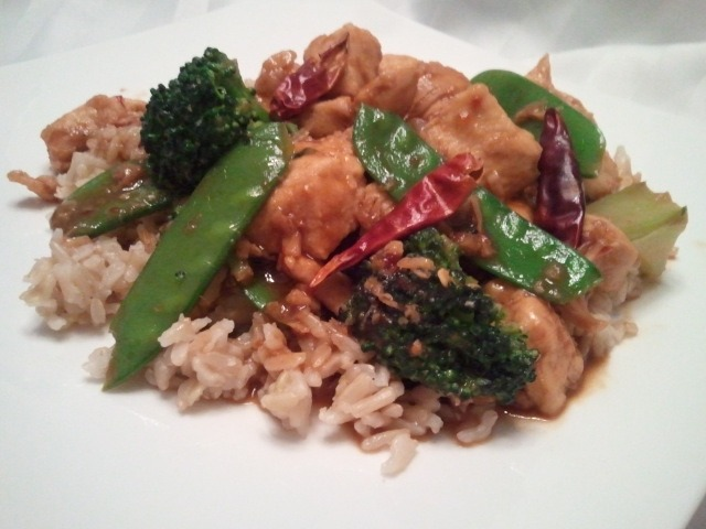 K-Hole Kung Pao (featuring Chicken Kung Pao with Snow Peas and Broccoli)