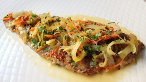 Fishues (featuring Pecan-Crusted Trout with Rosemary Orange Butter Reduction)
