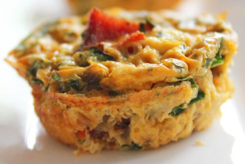 The Plaza (featuring Flourless Egg Muffins with Turkey Bacon, Spinach, Tomatoes and Basil)